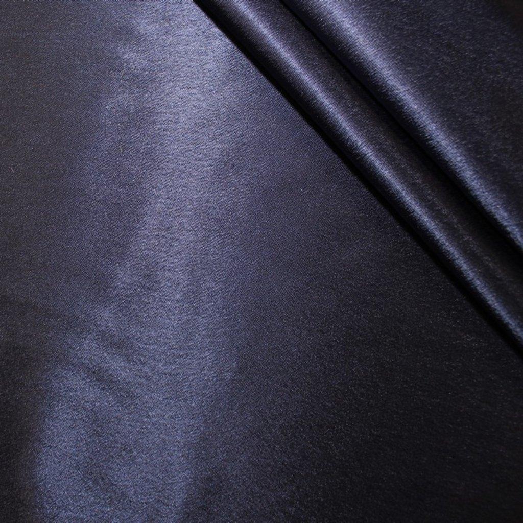 Krepsatén tmavě modrý