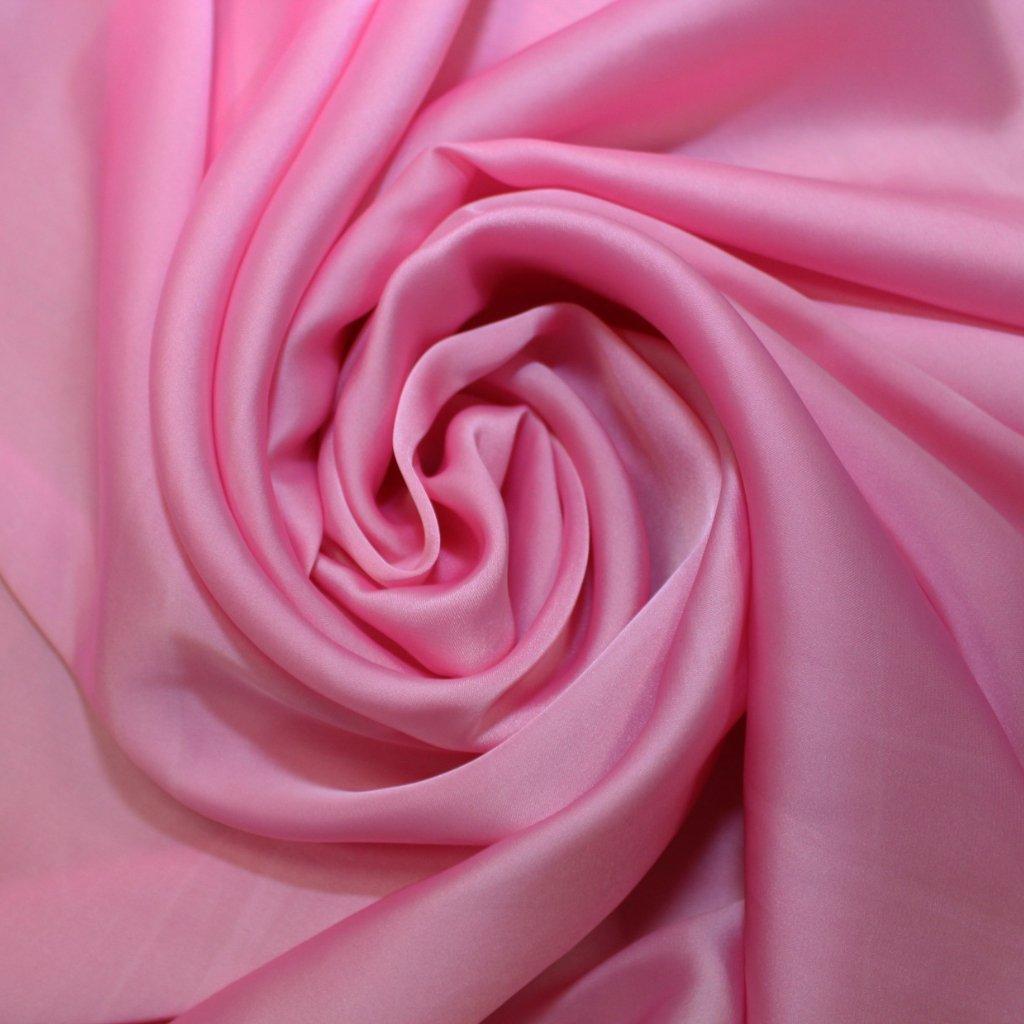 Satén jemný prádlový růžový