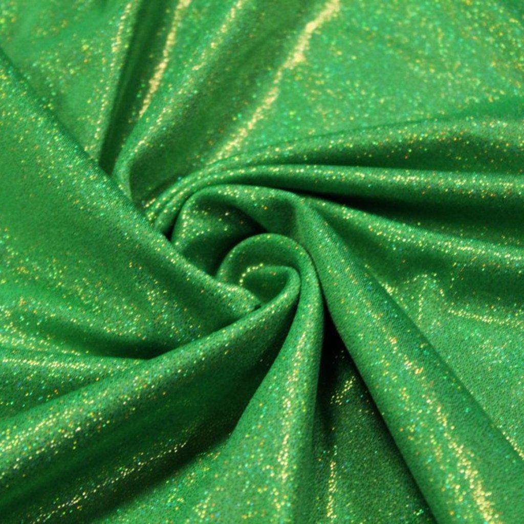 Lycra zelená třpytivá