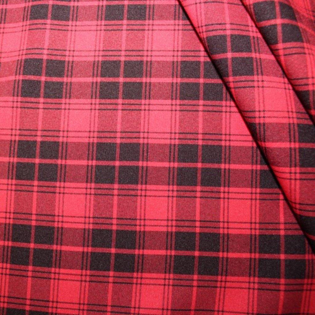 Polyester červenočerný