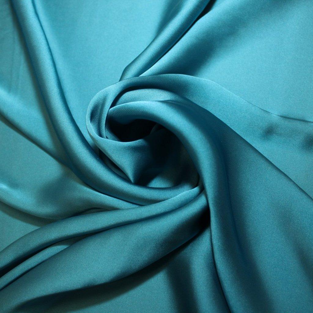Satén prádlový modrý