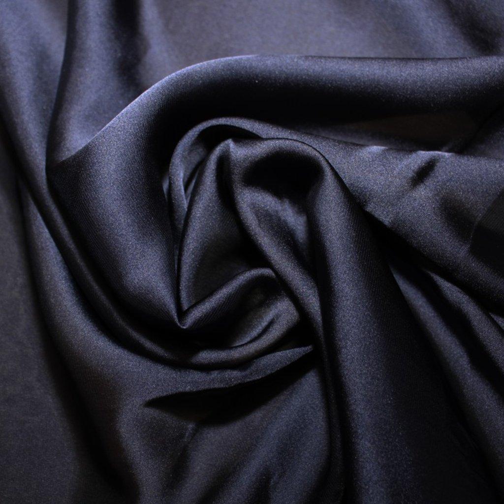 Satén prádlový tmavě modrý