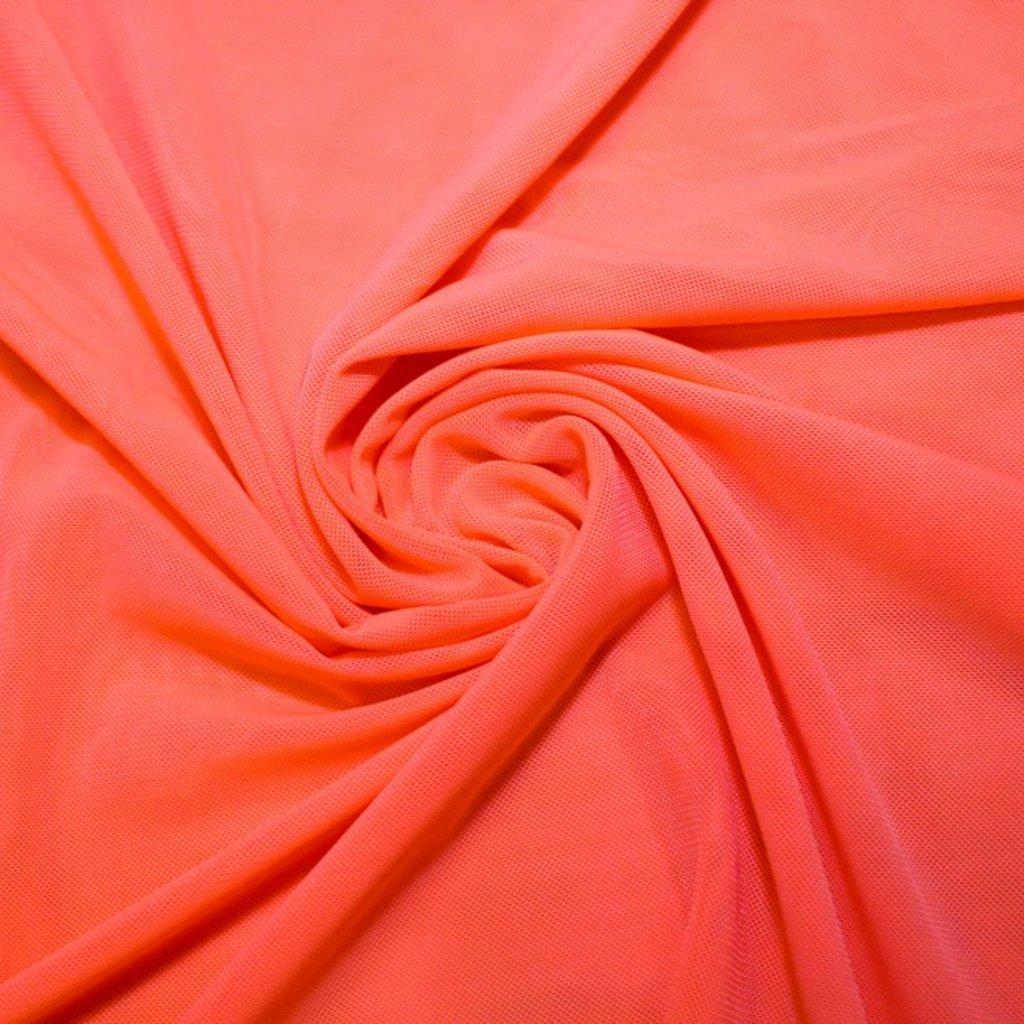Tyl pružný světle oranžový