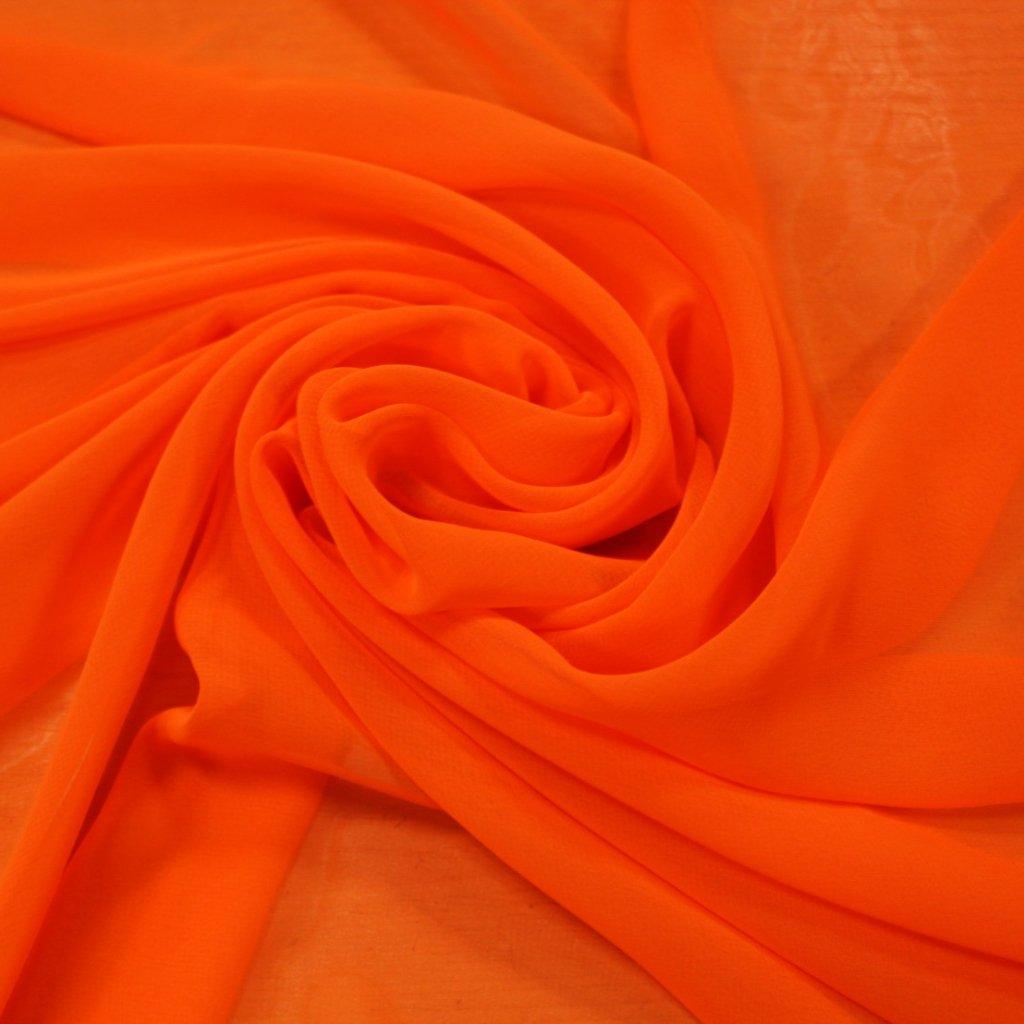 Šifon neonově oranžový
