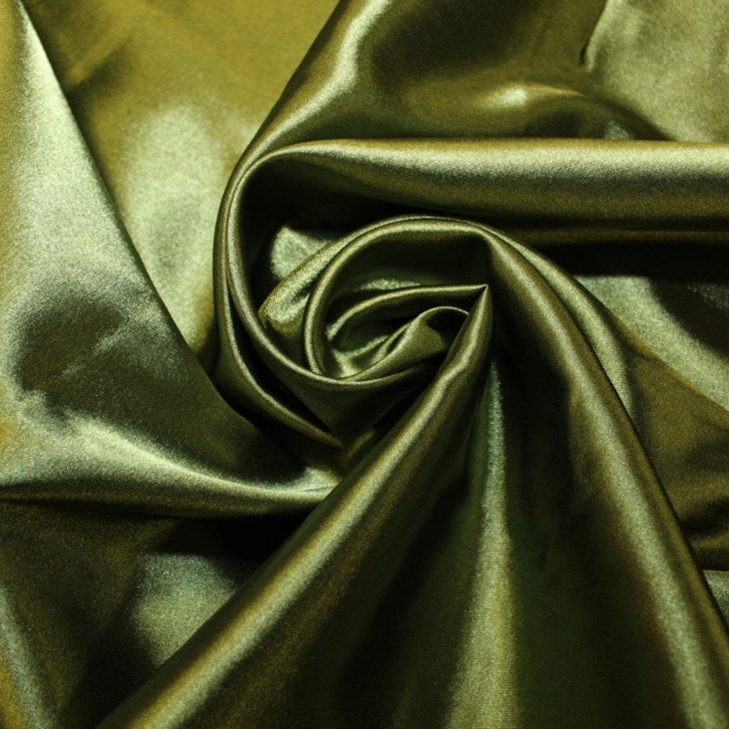 Taft oboustranný zelený