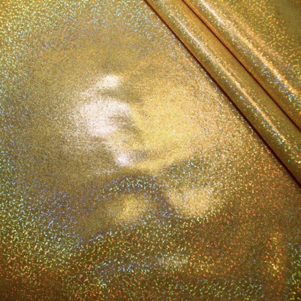 Lycra žlutá s hologramem