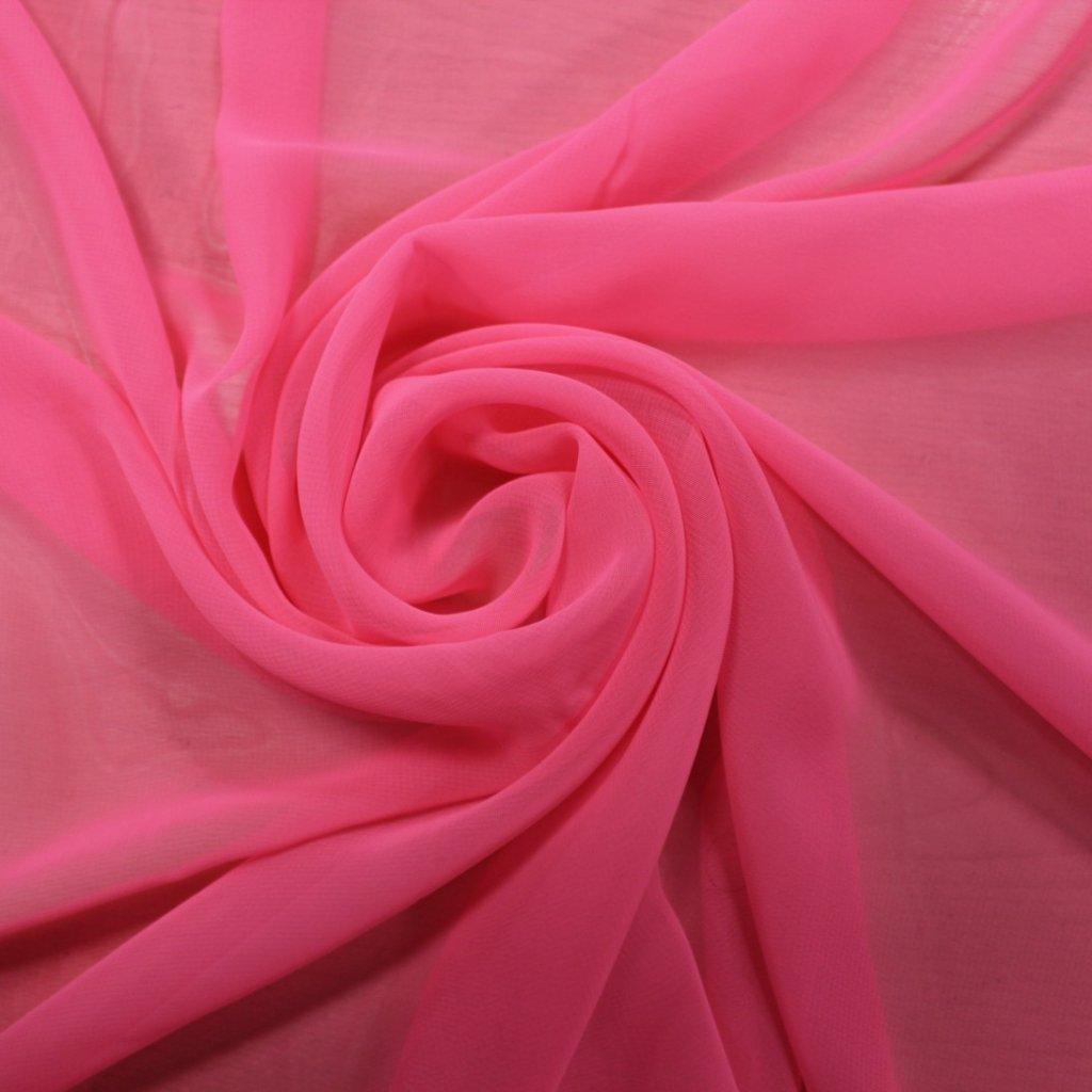 Šifon neonově růžový