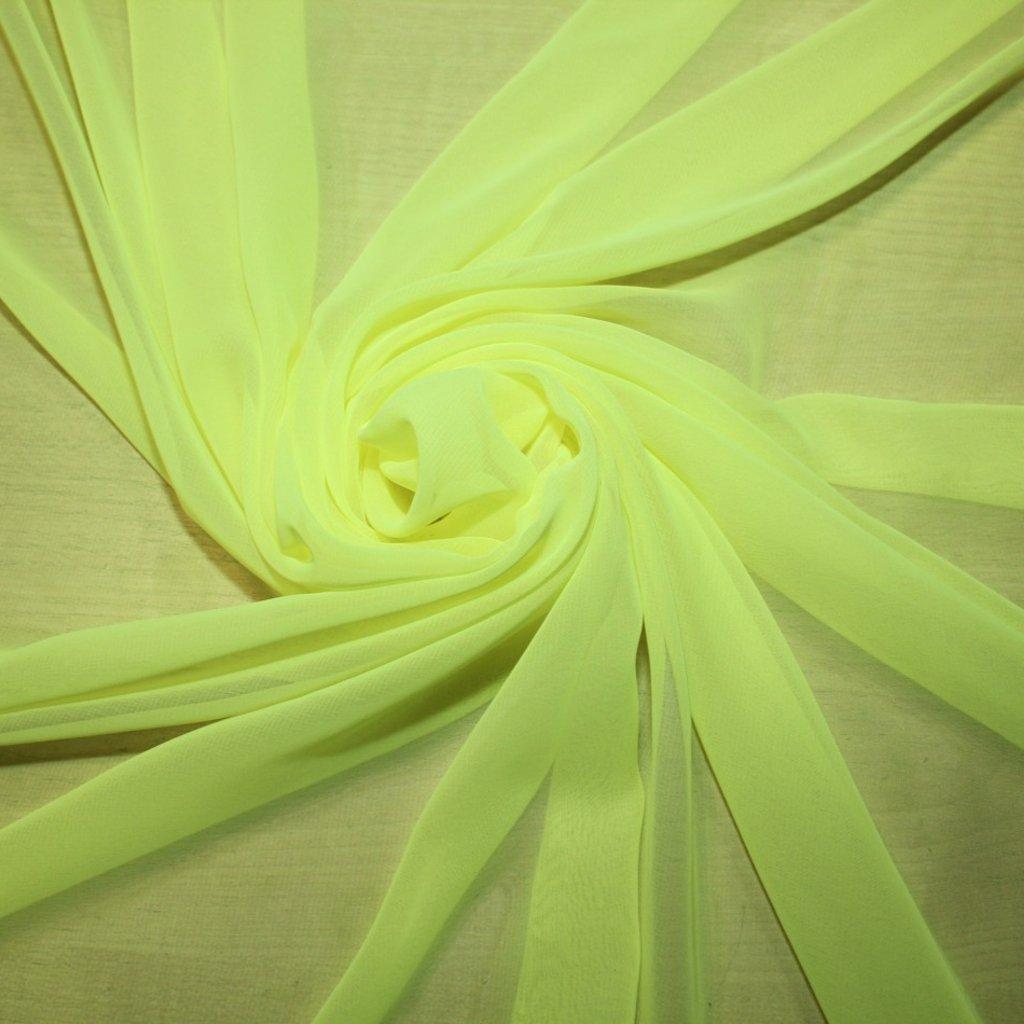 Šifon neonově žlutý
