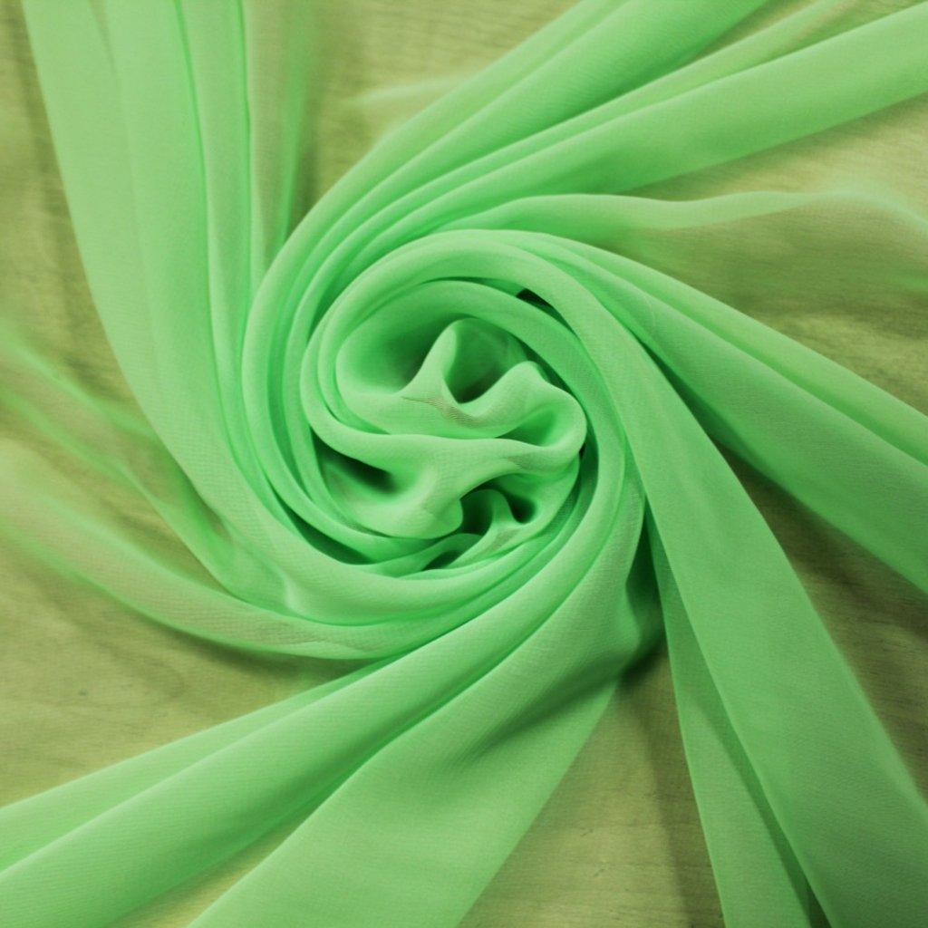 Šifon svítivě zelený
