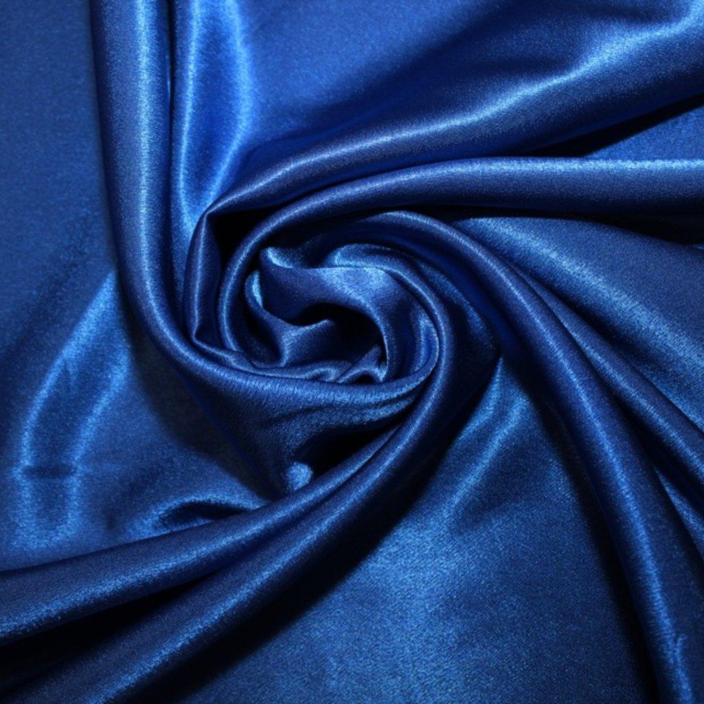 Krepsatén modrý