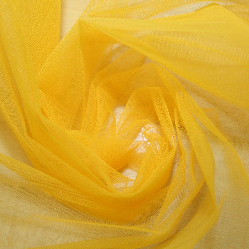 Tyl spodničkový žlutý