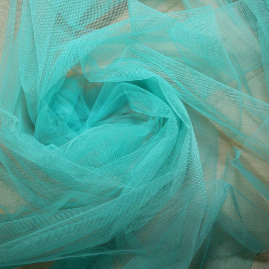 Tyl spodničkový modrozelený