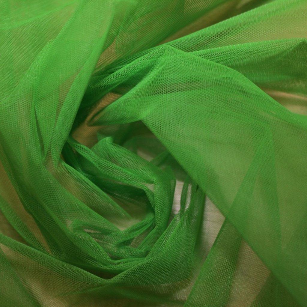 Tyl spodničkový zelený