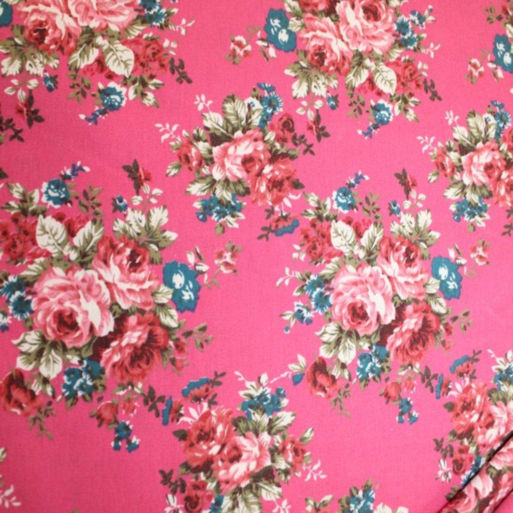 Bavlna růžovomodrá