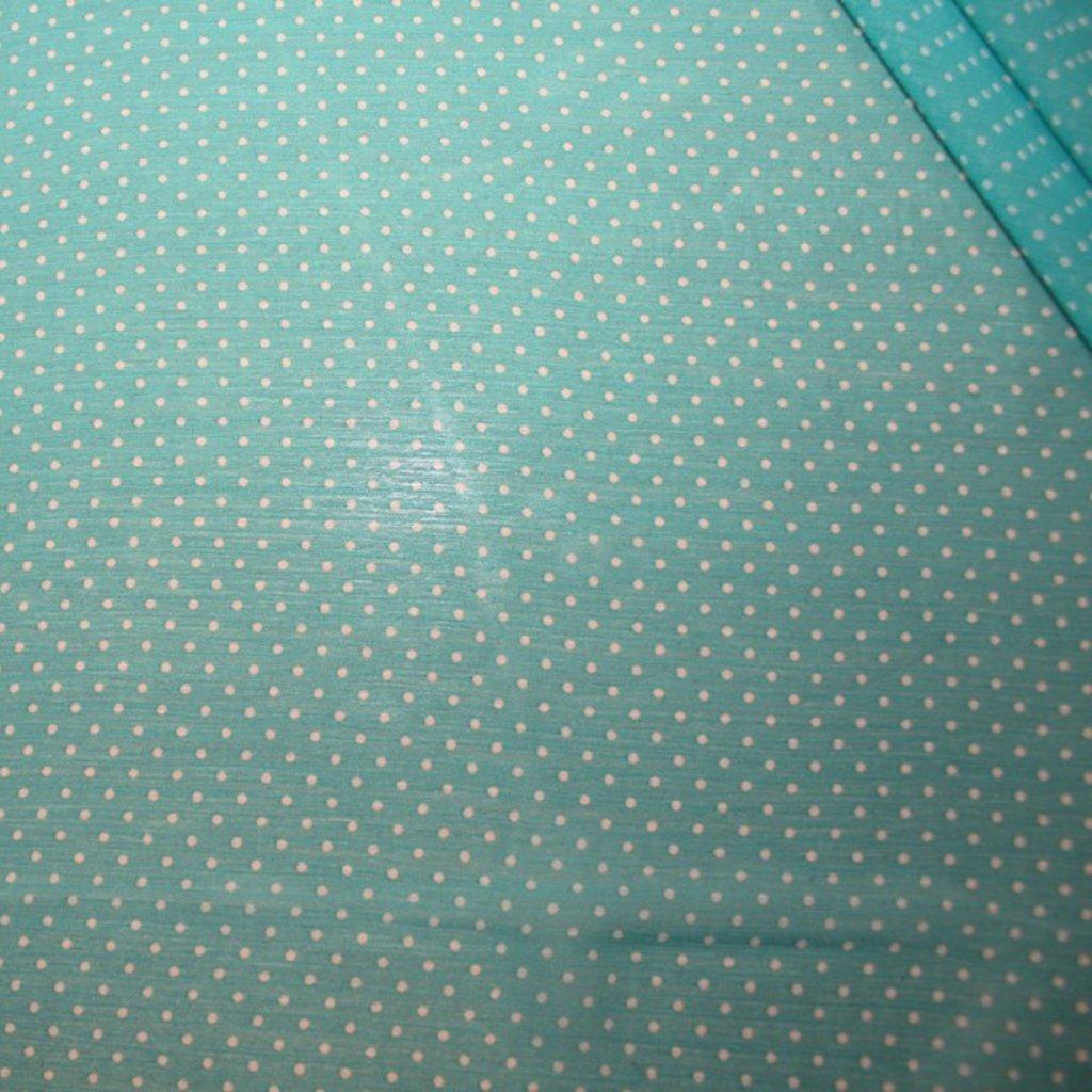 Šifon zelenobílý s puntíkem