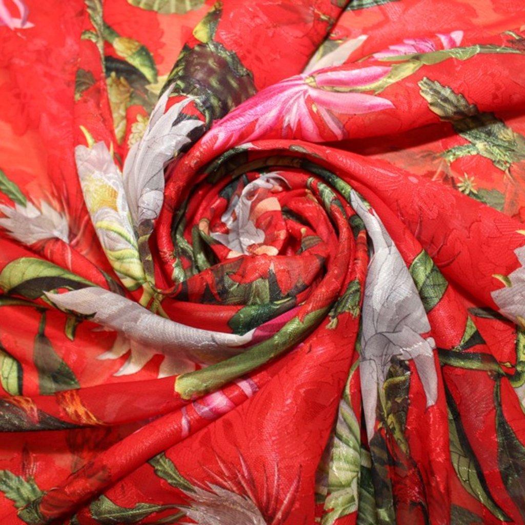 Polyester červenozelený