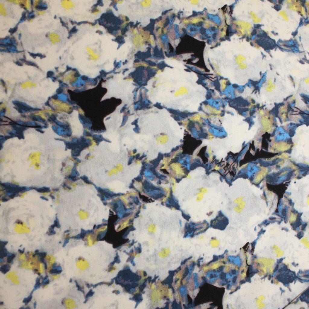 Polyester bílomodrý