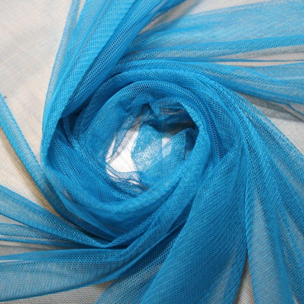 Tyl závojový modrý
