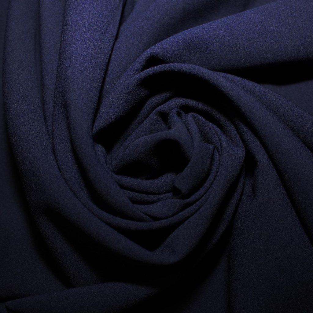 Žoržet slabý halenkový tmavě modrý