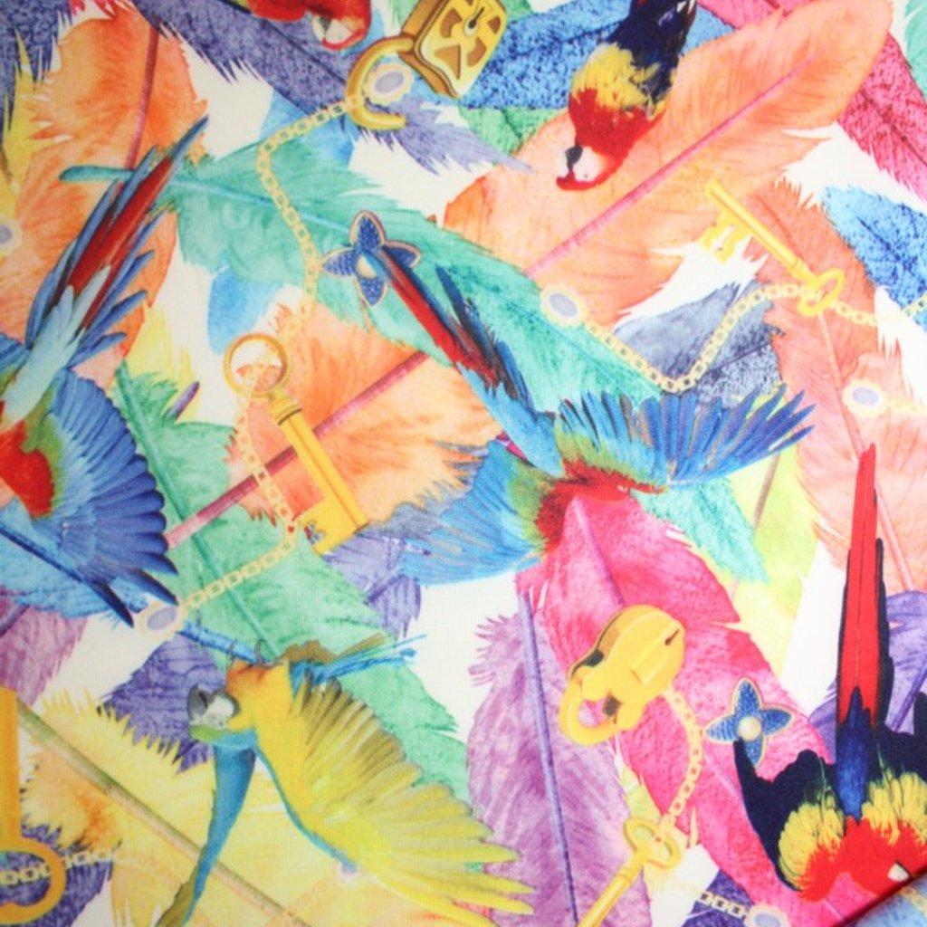 Šatovka s modrými papoušky