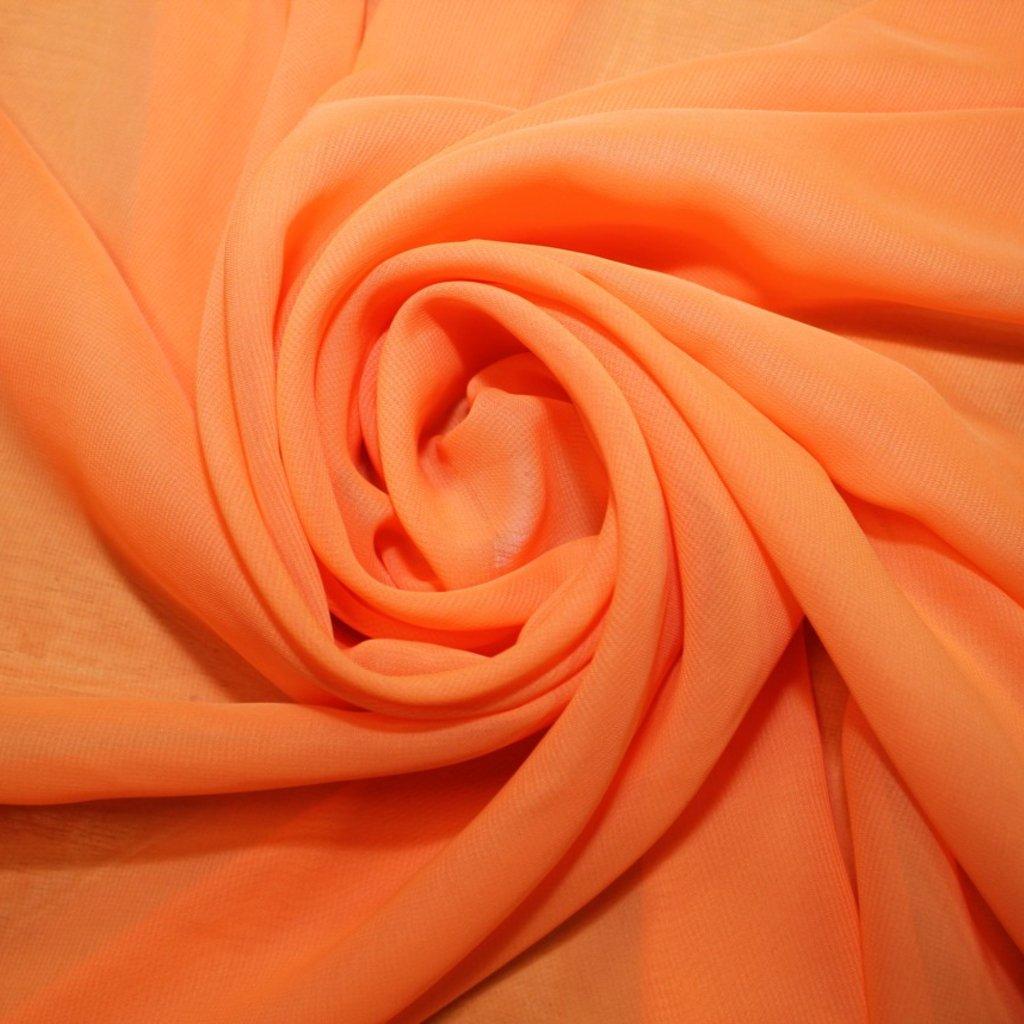 Šifon světle oranžový