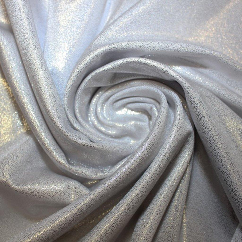 Plavkovina bílá se stříbrnými třpitkami
