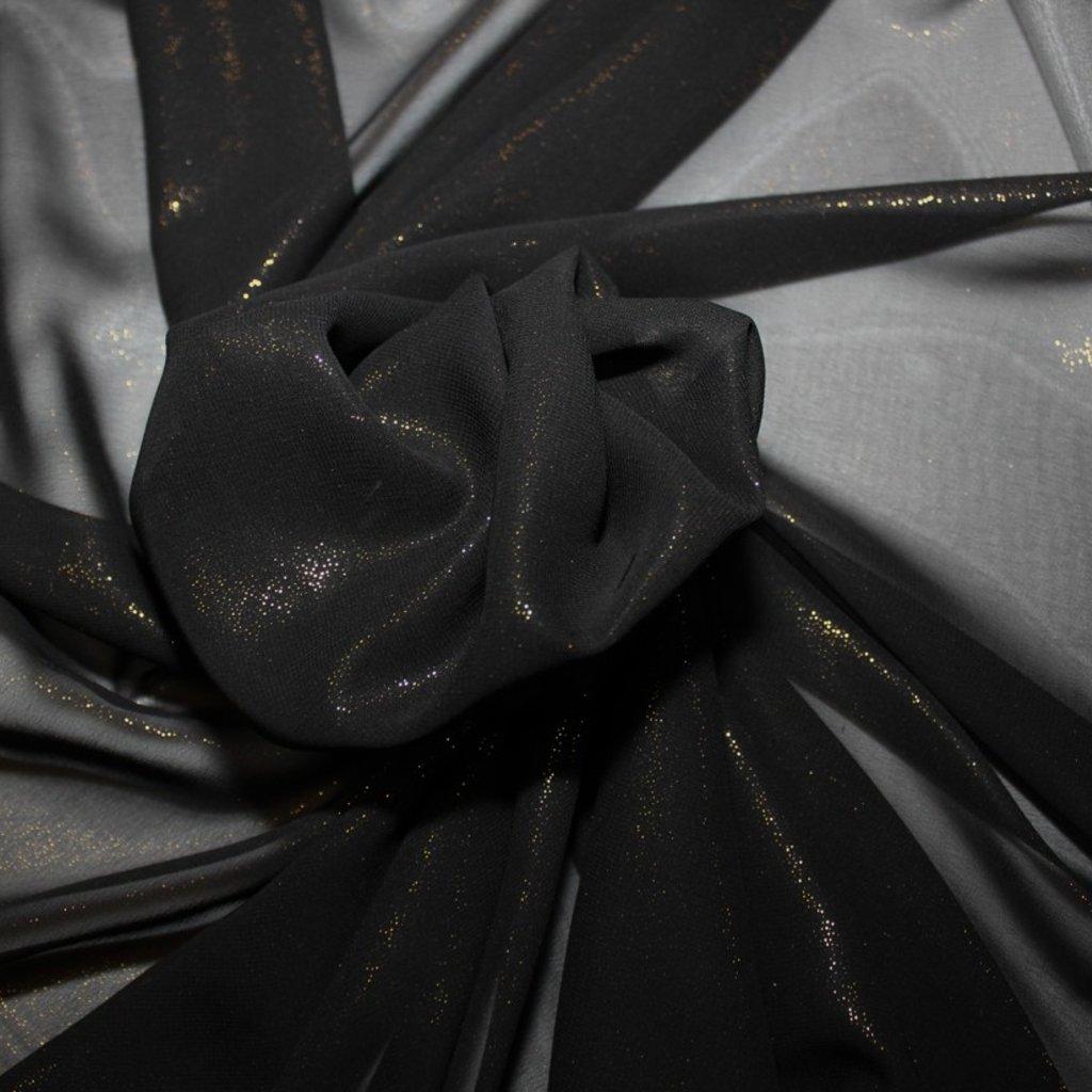 Šifon s bleskem černý