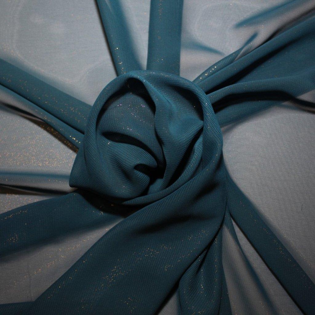Šifon s bleskem tmavě modrý
