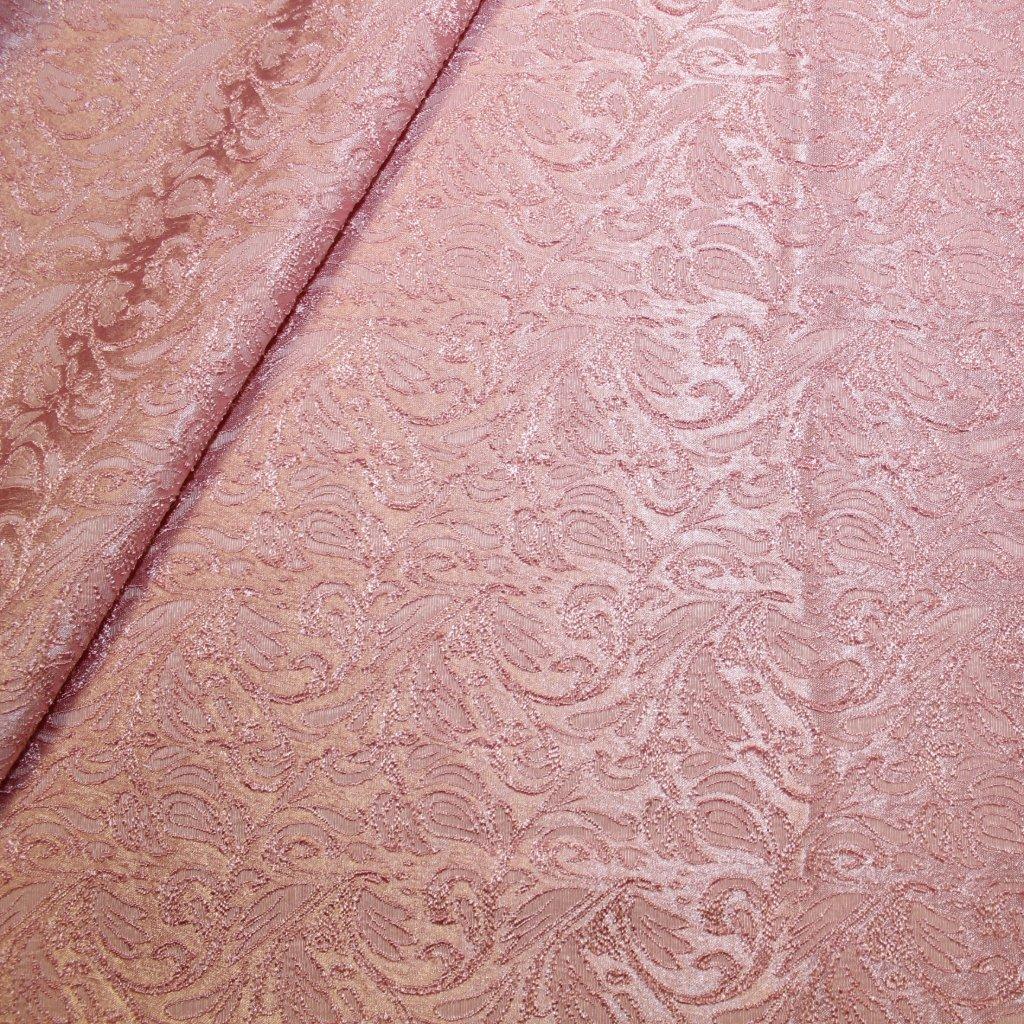 Brokát růžový