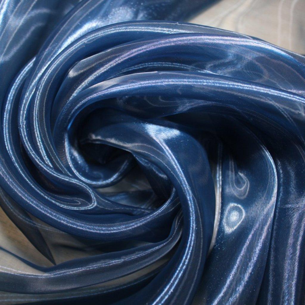 Organza modrá