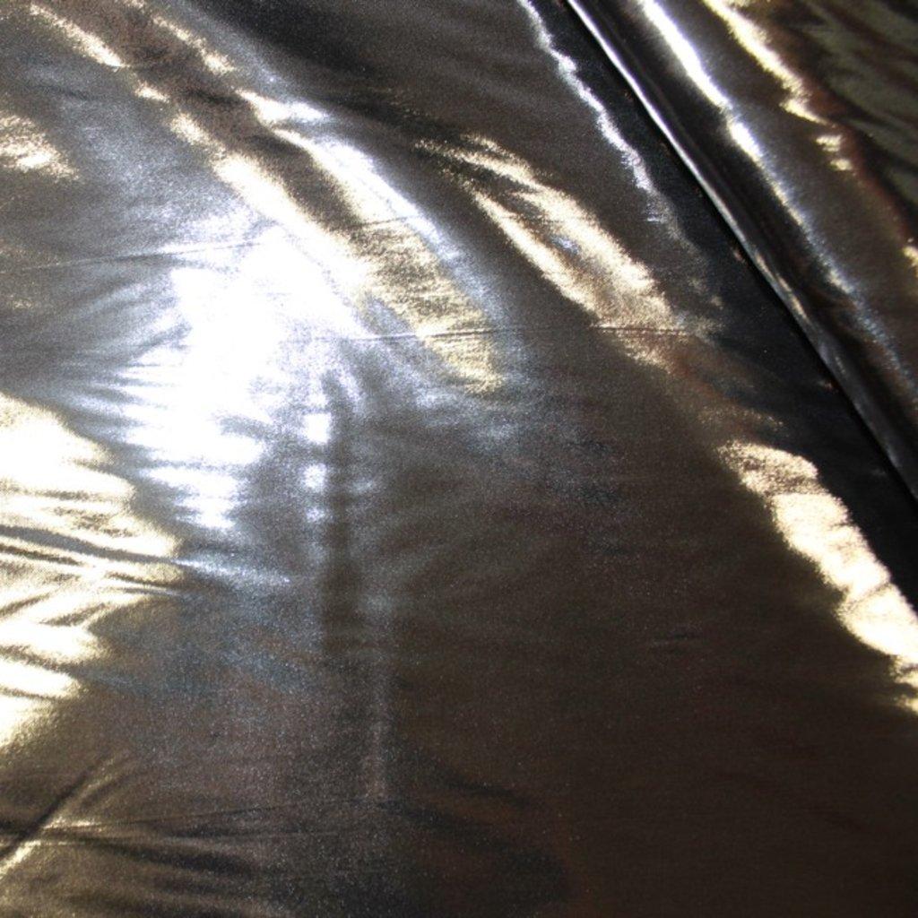 Taft lesklý tmavě stříbrný