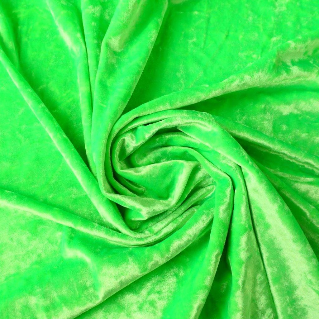 Samet pružný lesklý neonově zelený