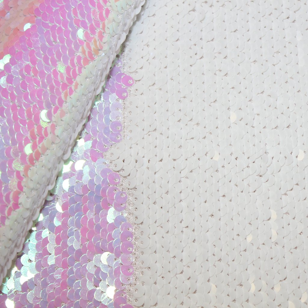 Flitrová měňavá látka růžovobílá