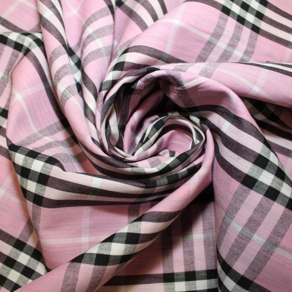 Bavlna růžovočerná kostka