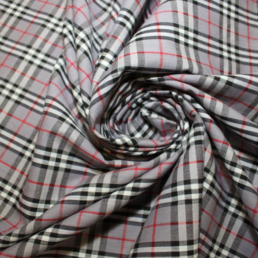 Bavlna šedá kostička
