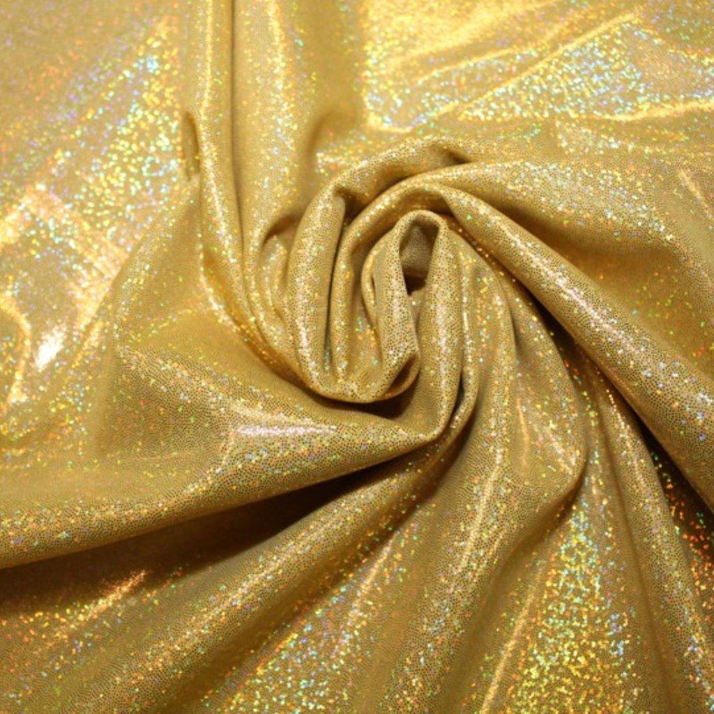 Lycra zlatá s hologramem