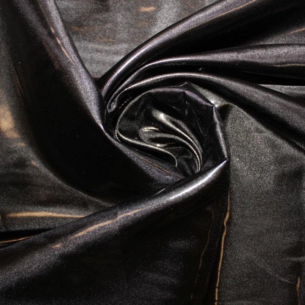 Taft lesklý černý
