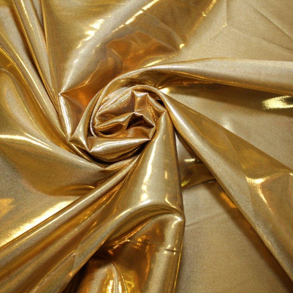 Taft lesklý zlatý