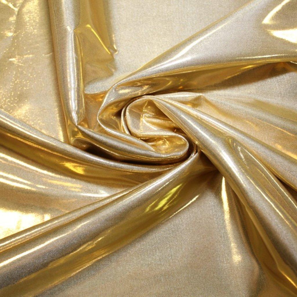 Taft lesklý světle zlatý