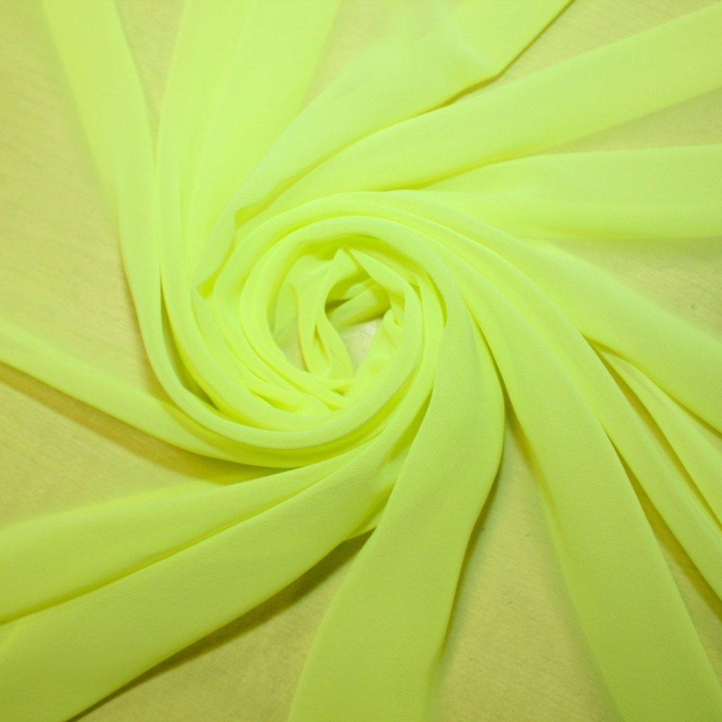 Šifon výrazně žlutý