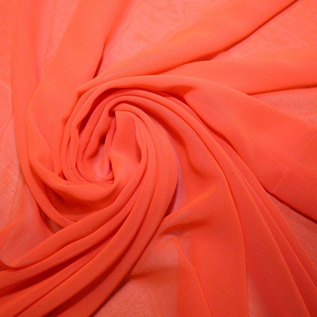 Šifon výrazně oranžový