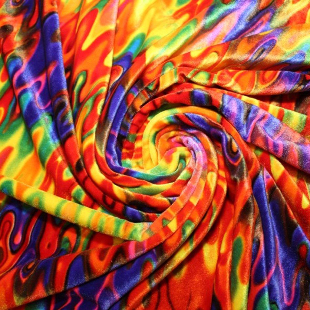 Samet různobarevný