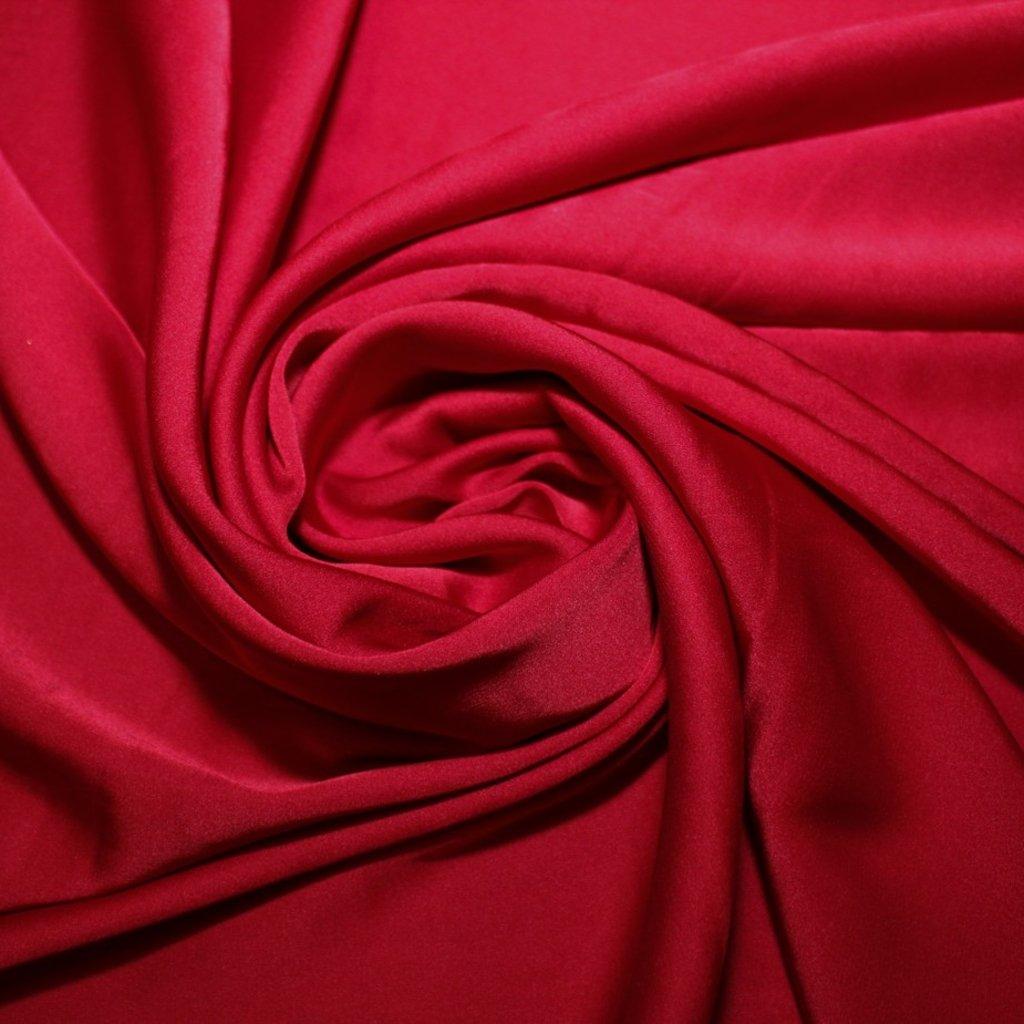 Satén jemný prádlový tmavě červený