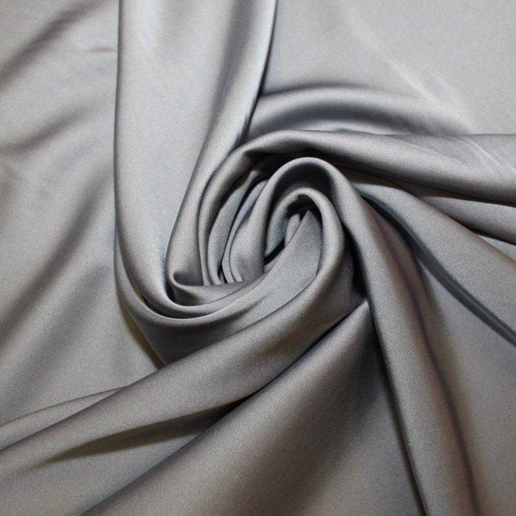 Satén jemný prádlový stříbrný