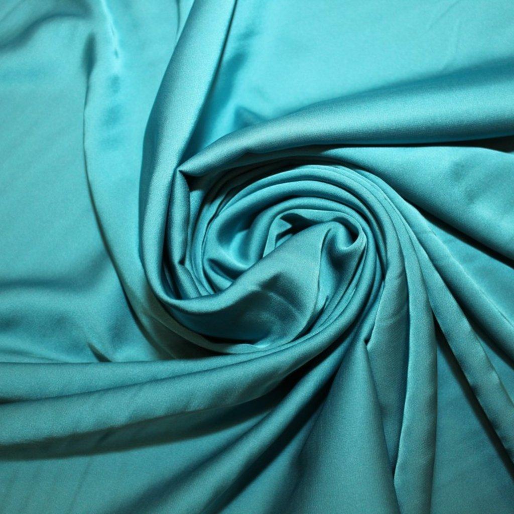 Satén jemný prádlový modrý