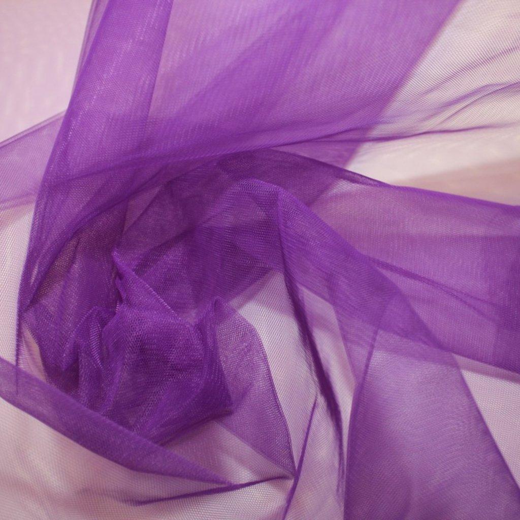 Tyl fialový středně silný