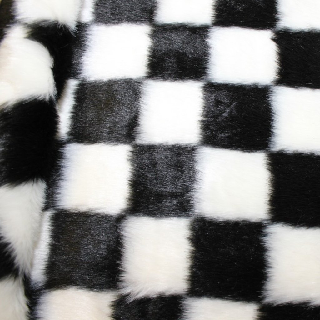 Kožešina se vzorem šachovnice