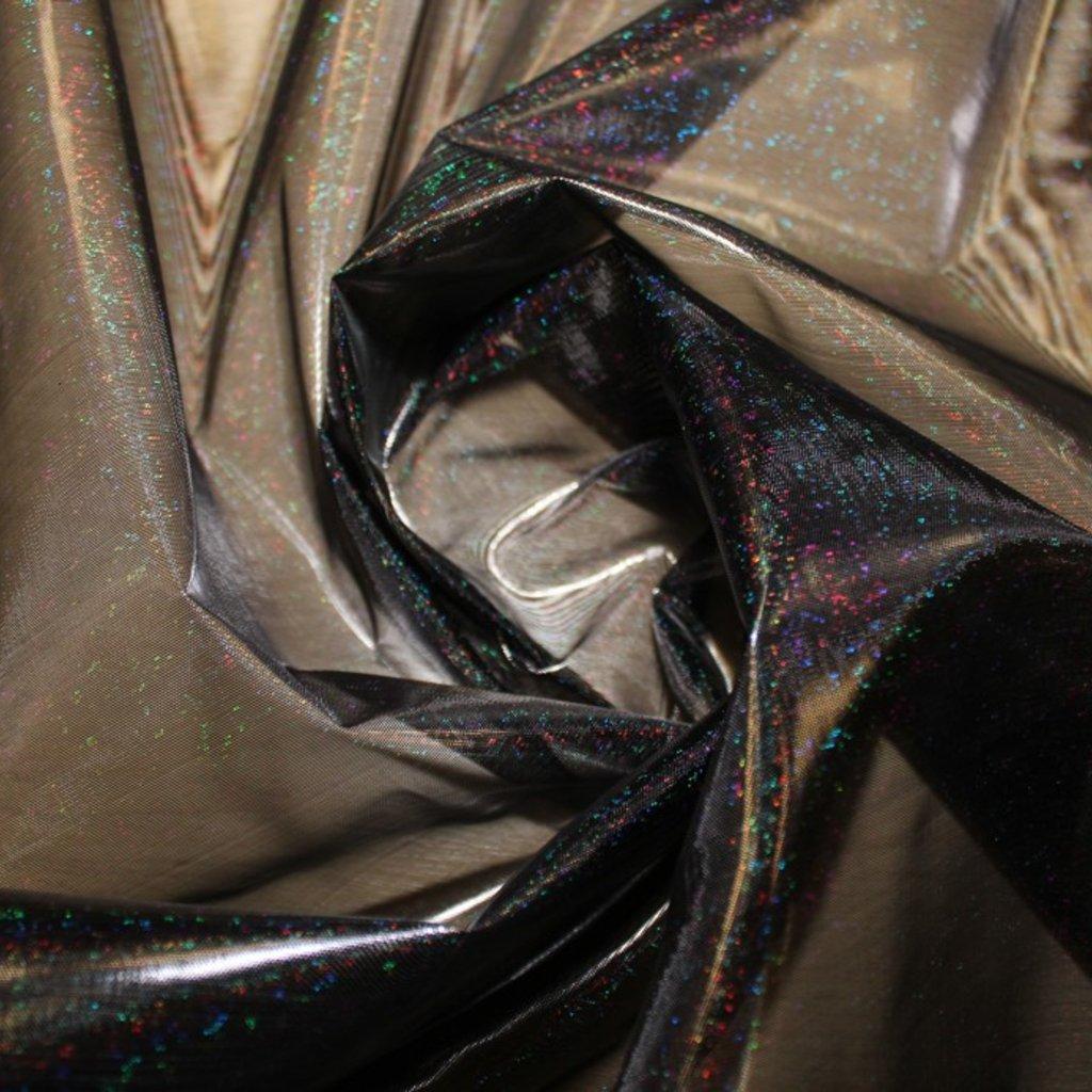 Organza černá s hologramem