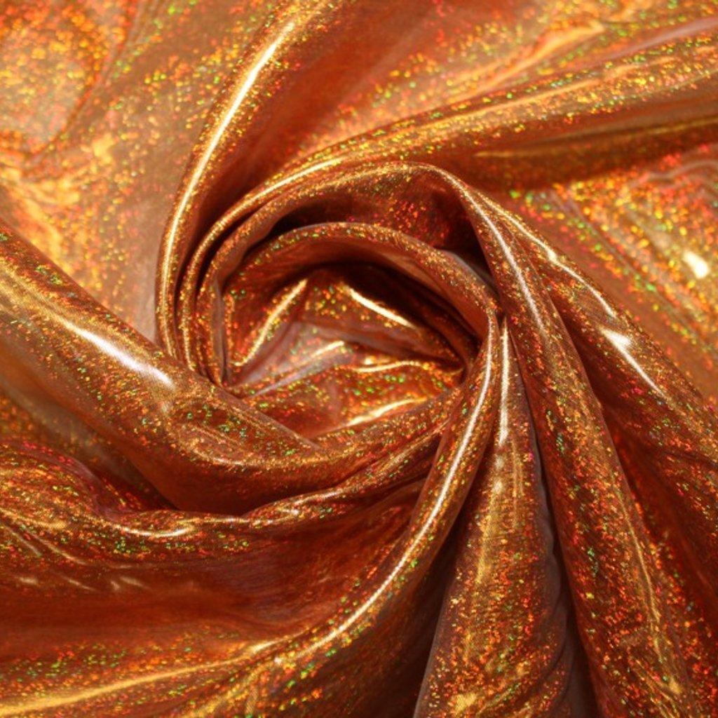 Organza oranžová s hologramem