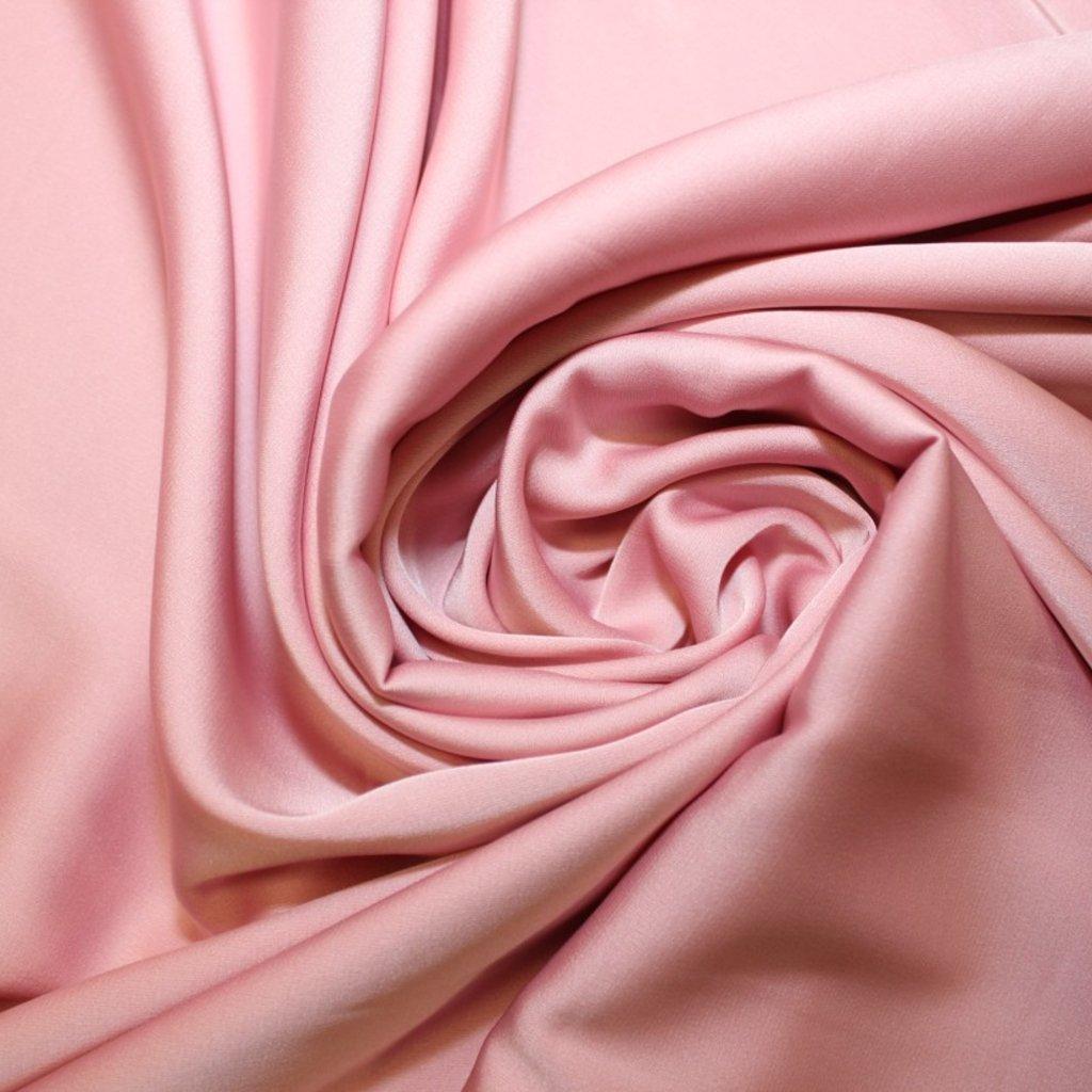 Satén jemný lehce strečový růžový